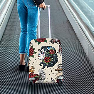 Suitcase Protectors Tribal Women Print on Dust Proof Luggage Covers Fit 18-28 Inch Luggage
