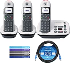 $86 » Motorola CD5013 DECT 6.0 Cordless Phone with Digital Answering Machine, Call Block, and 10dB Amplification (3-Pack) Bundle...