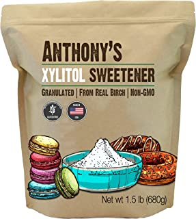 Anthony's Xylitol Sweetener, 1.5lbs, Made from Birch, Gluten Free, Keto Friendly, Non GMO, Product of USA