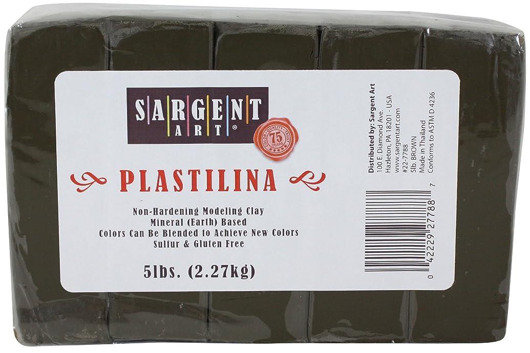 Sargent Art Plastilina Modeling Clay, 5-Pound, Brown