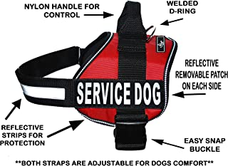 Service Dog Harness Vest Comes with 2 Reflective Service Dog Removable Patches. Please Measure Dog Before Ordering