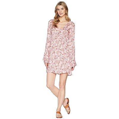 Stetson 1589 Floral Herringbone Print Dress (Pink) Women