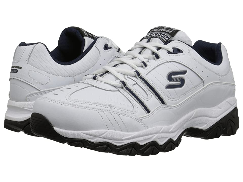 SKECHERS Afterburn M. Fit Strike On (White/Navy) Men