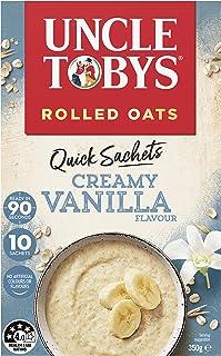 UNCLE TOBYS Oats Quick Sachets Creamy Vanilla, 10 Sachets