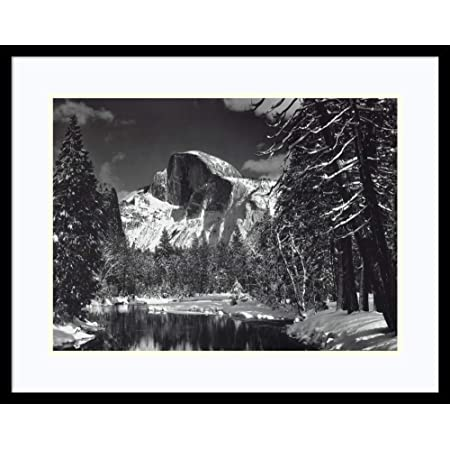 Amazon Com Framed Wall Art Print Half Dome Winter Yosemite National Park 1938 By Ansel Adams 29 00 X 23 00 In Home Kitchen