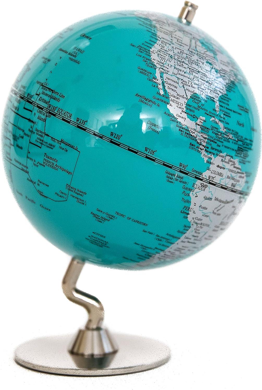 Turquoise Sliver Globe of 5