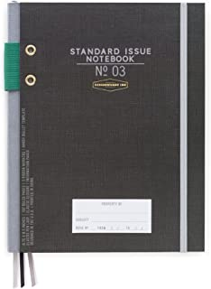 DesignWorks Ink Standard Issue Bound Personal Journal, Black