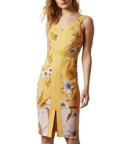 Ted Baker Peppinn Cabana Panel Bodycon Dress (Yellow) Women