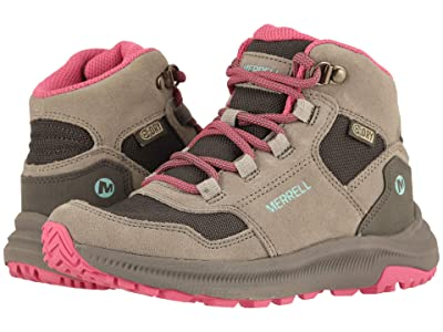 Merrell Kids Ontario 85 Waterproof (Little Kid/Big Kid) (Grey/Pink) Girls Shoes