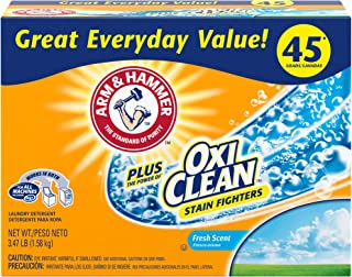 Arm & Hammer Laundry Detergent Plus OxiClean, Fresh Scent, 3.47 Lbs