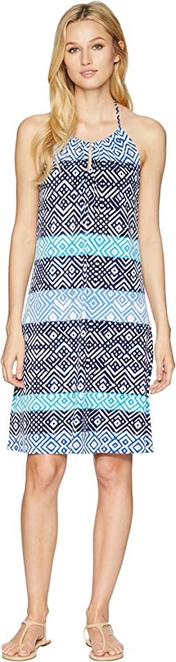 Mayan Maze Halter Dress