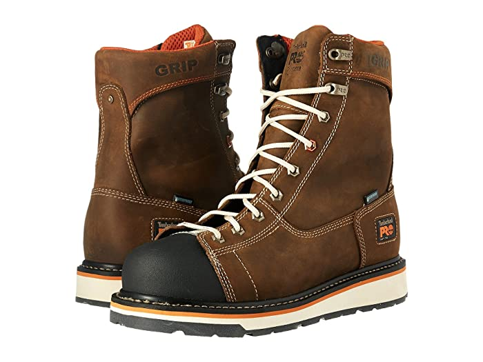 Timberland PRO  Gridworks Soft Toe Waterproof Boot (Brown Full Grain Leather) Mens Work Lace-up Boots