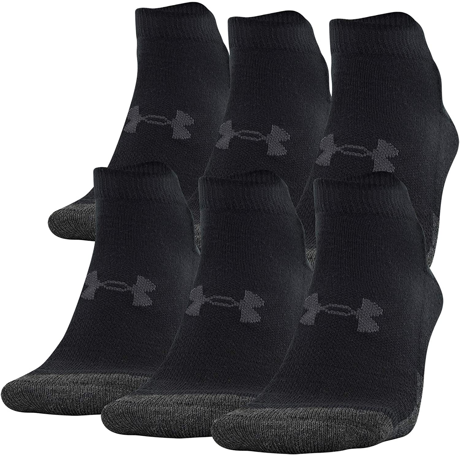 Under Armour Adult Performance Tech Low Cut Socks (3 and 6 Pack)
