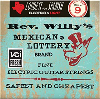 Dunlop RWN0942 Billy Gibbons Rev. Willy's Nickel Wound Guitar Strings (0.09-0.42) 6-Strings