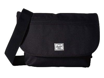 Herschel Supply Co. Grade Mid-Volume (Dark Grid/Black) Messenger Bags