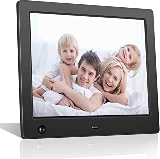 – FLYAMAPIRIT Digital Picture Frame 8 inch Electronic Photo Frame with Motion Sensor and High Resolution 1024×768 IPS LCD/1080P 720P Video Player/Stereo/MP3/Calendar/Time/Remote