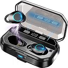 Drahtlose Ohrhörer Bluetooth-Kopfhörer 5.0 mit LED-Taschenlampe, wasserdichte..