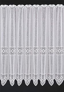 Rideaux Brise-bise Graphique 90 cm de Haut | Vous Pouvez Choisir la Largeur des Rideaux par paliers de 30 cm | Colour: Bla...