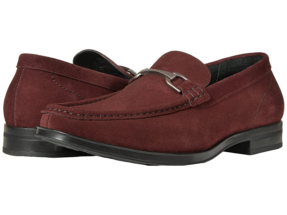Stacy Adams Newcomb Moc Toe Penny Loafer (Oxblood Suede) Men
