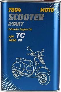 1 x 1L MANNOL 7804 Scooter 2 Takt API TC / JASO FB Motoröl High Speed Scooter Mopeds Grün