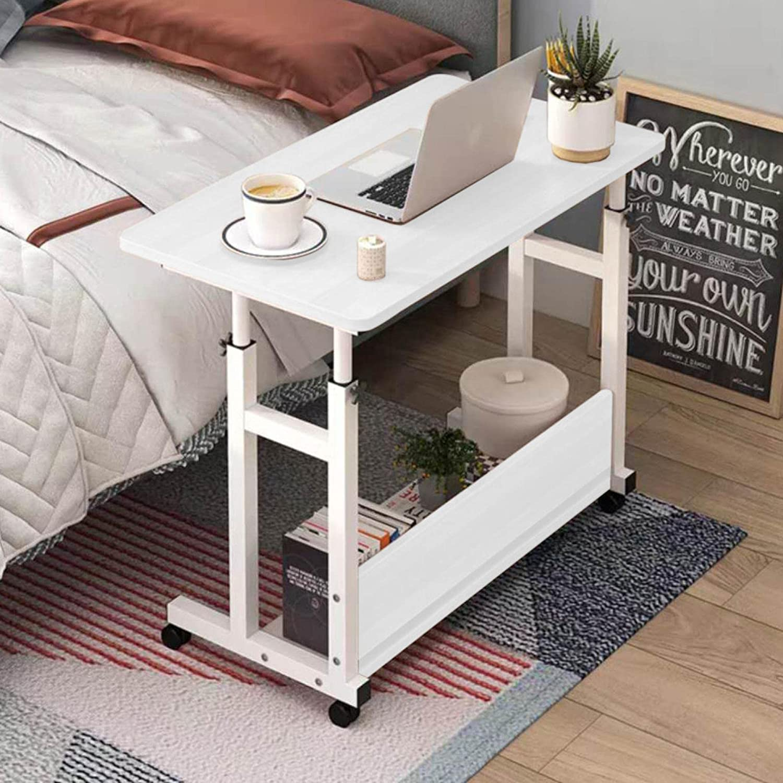 AIBEN Mobile Standing Desk Rolling Table Adjustable De 70% OFF Outlet Computer Kansas City Mall