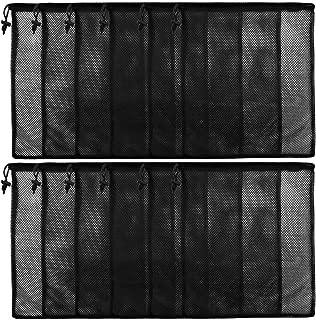 12Pcs Mesh Laundry Drawstring Bag,Nylon Drawstring Gym Bag with Cord Lock Closure 13