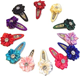 XLDreams 12 Pcs Imported Multi Color kids Hair Clips/Snap Clips/Mixed Bowtie/Hair Accessories for Girls/kids