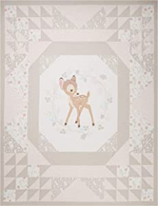 Disney Cheater Quilt Wallhanging 36'' Panel Bambi Fabric, Tan