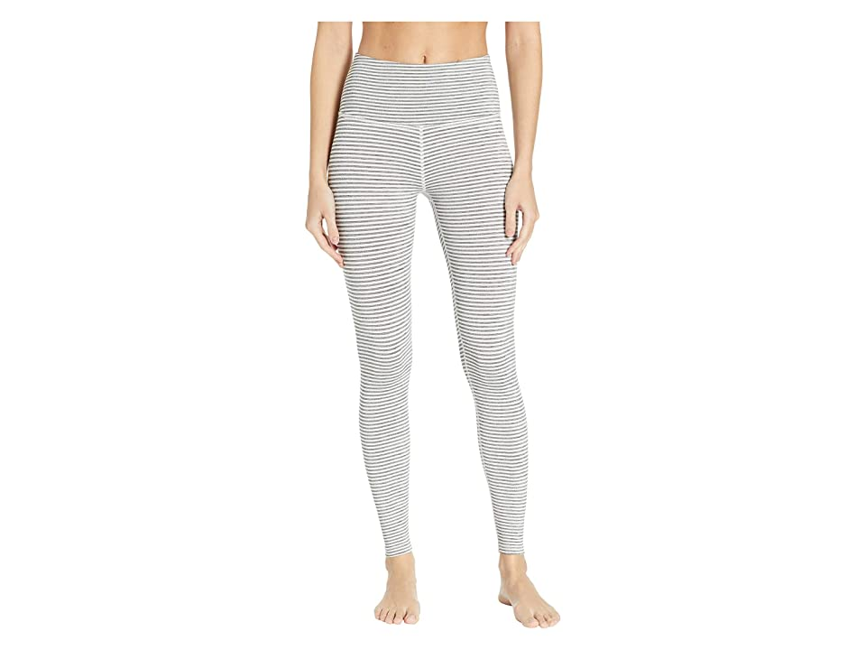 Beyond Yoga True To Stripe High-Waisted Long Leggings (White Heather Surf Stripe) Women