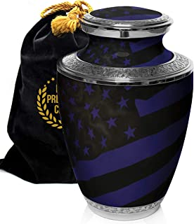 Prime Preferred Choice Military Army, Navy, Air Force, Marine Veteran Camouflage Flag Cremation Urns for Human Ashes Adult...