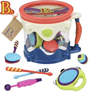 B toys – Drumroll Please – 7 Musical Instruments Toy Drum Kit for Kids 18 months + (7-Pcs)