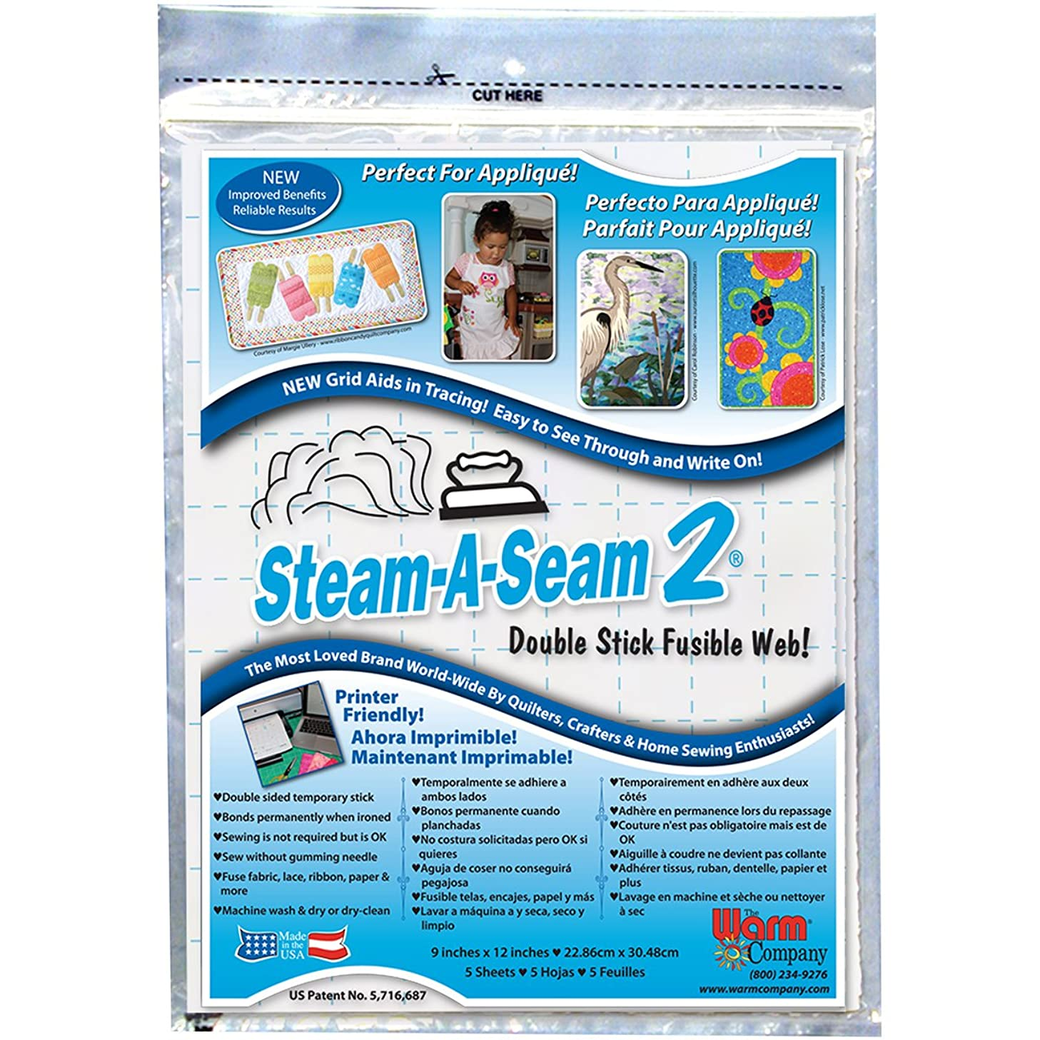 Warm Company Steam-A-Seam 2 Double Stick Fusible Web-9