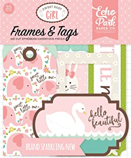 Echo Park Paper Company Sweet Baby Girl Frames & Tags