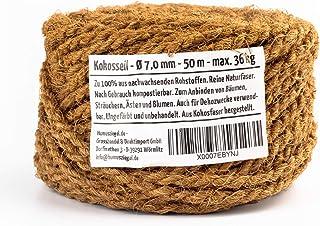Humusziegel Brique d'humus - corde de noix de coco - dimension 7 mm x 50 m - en fibre naturelle non teinte - peut être uti...