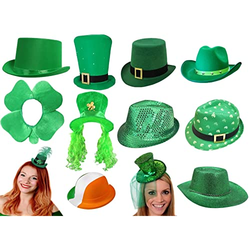 ST PATRICKS DAY IRISH HATS FOR ANY IRELAND ST PADDYS DAY FANCY DRESS PARTY  FOR MEN ddcd9ca8b2ee
