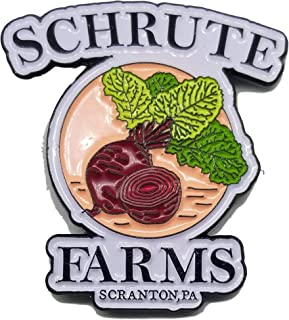 Schrute Farms Beets - Office - Enamel Lapel Pin - Dwight Favorite For Backpacks, Jackets, Hats etc.