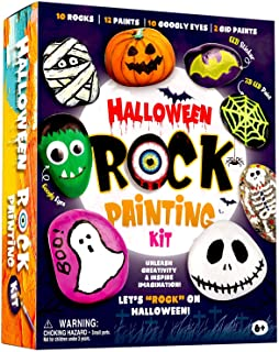 XXTOYS Halloween Rock Painting Kit - Glow in The Dark Rock Painting for Kids - Arts and Crafts for Kids 4-6 - Hide and See...