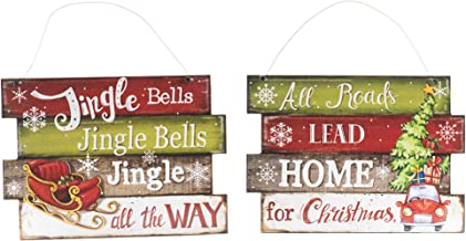 OSW Christmas Home Hangers All Roads Lead Home for Christmas and Jingle Bells Jingle Bells Jingle All The Way