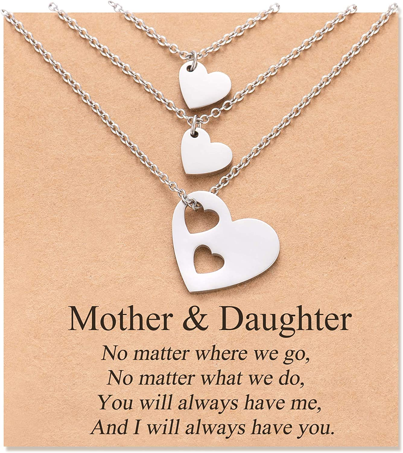 MANVEN Mother Daughter Necklace Set for 2 Mom Deluxe Daugh 3 Gifts Bombing new work from