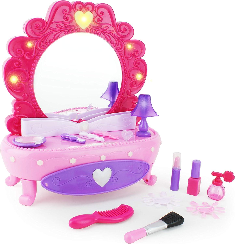 Boley Seattle Max 71% OFF Mall Fashion Vanity Mirror - 38 Set Piece with Mak Pretend Play