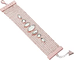 GUESS - Matte Wide Mesh Bracelet with Stones