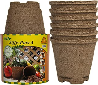 Jiffy Pots 12 Pack 4 Inch Round Seed Starter Planters Biodegradable Peat For Gardening