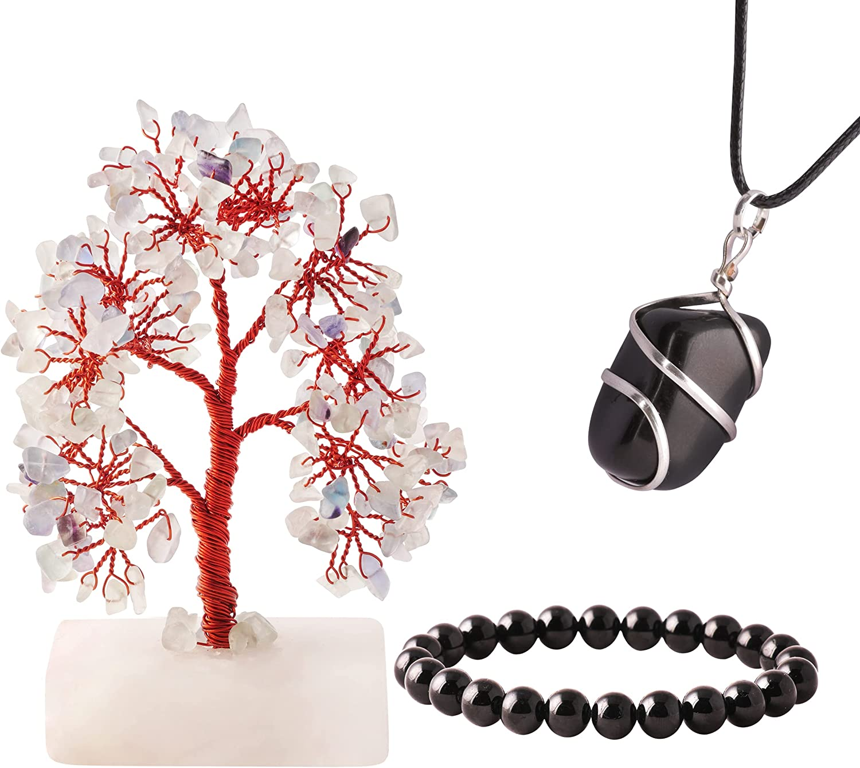 SUBYATH 67% OFF of fixed price Green Fluorite Bargain sale Tree Reiki Pendant Bracelet Crystal Neckl