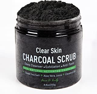 油ぎったオイリー肌を改善するスクラブ洗顔 ボディスクラブ 最高級活性炭により古い角質,毛穴の汚れをかき出す美肌効果