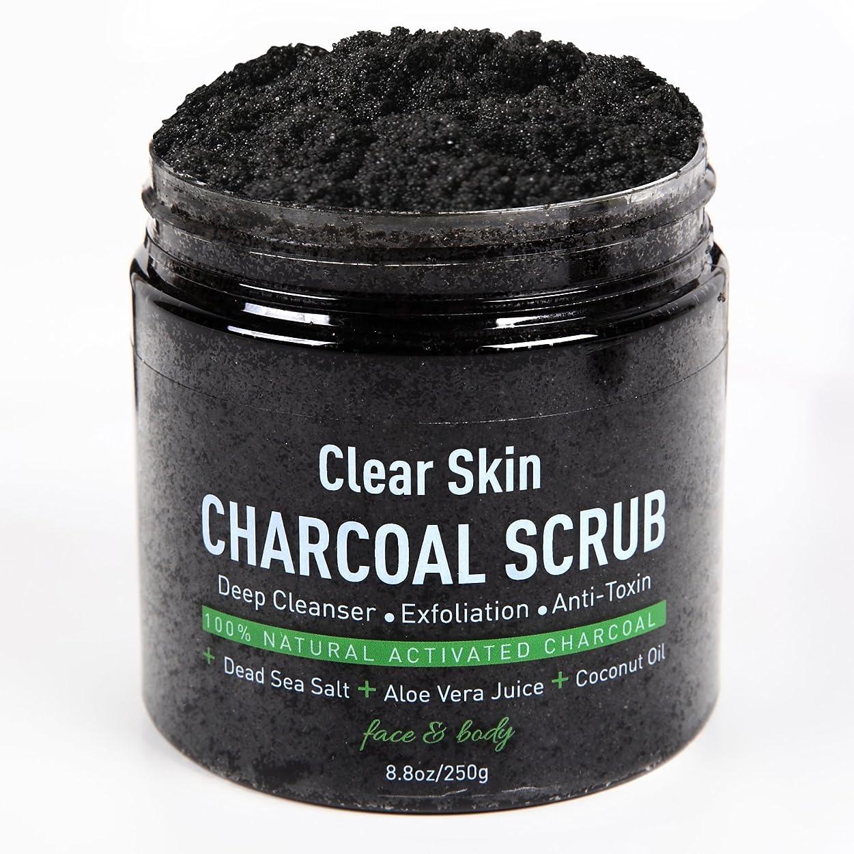 メーカー内なる株式会社油ぎったオイリー肌を改善するスクラブ洗顔 ボディスクラブ 最高級活性炭により古い角質,毛穴の汚れをかき出す美肌効果