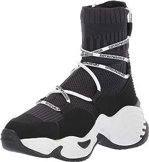 Women's Sneaker HIGH TOP, Black, 36 Regular EU (6 US)