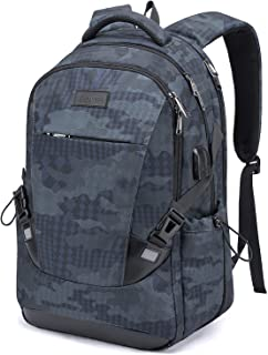 Tzowla Travel Laptop Backpack Anti-Theft Water Resistant Business Backpack TSA Lock & USB Charging Port TSA Friendly Computer Backpack Men Women College School Bag Fit 16 inch Laptops… (Blue)