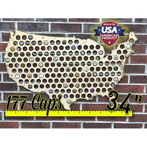bd4d5511ab77 Natural Wood Bottle Cap Map Holder FREE SHIPPING