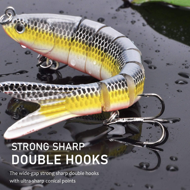Daedalus Fishing Lures for Bass Trout Multi Jointed Swimbaits Slow Sinking Bionic Freshwater Saltwater Lures Kit Lifelike Fishing Gift for Men 3pcs