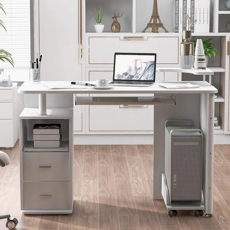 Computer Desk with Cabinet Home Office Workstati 新作からSALEアイテム等お得な商品 満載 人気商品
